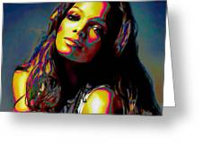 Janet Jackson Greeting Card