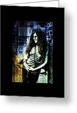 Janis Joplin - Blue Greeting Card