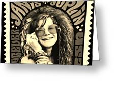Janis Stamp In A Sepia Vibe Greeting Card