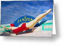 Jantzen Diver Greeting Card