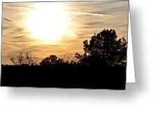 January 2013 Sunset Greeting Card