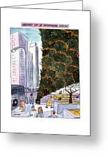 January 3rd At Rockefeller Center Greeting Card