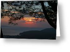 January Sunset Akyaka Greeting Card