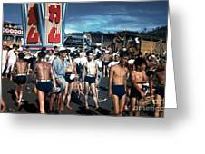 Japan At The Beach  Greeting Card