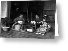 Japan Tea Party Greeting Card