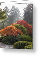 Japanese Garden In The Fall Season Greeting Card