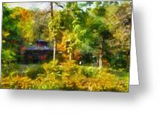 Japanese Garden Laura Bradley Park 02 Greeting Card
