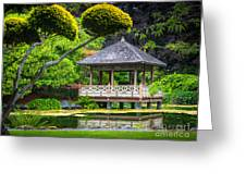 Japanese Gazebo Greeting Card