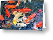 Japanese Koi Pond Greeting Card