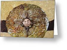 Japanese Maple Mandala Greeting Card