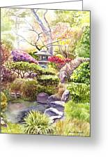 San Francisco Golden Gate Park Japanese Tea Garden  Greeting Card