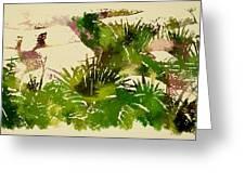 Japanese Washi Garden Reflections Greeting Card