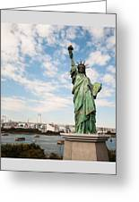 Japan's Statue Of Liberty Greeting Card