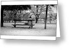 Jardin De Tuileries Greeting Card
