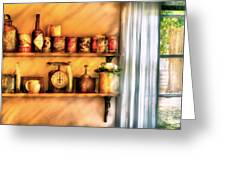 Jars - Kitchen Shelves Greeting Card