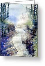 Jasper Athabasca Falls Greeting Card