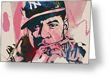 Jay-z Stylised Etching Pop Art Poster Greeting Card