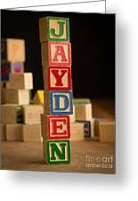 Jayden - Alphabet Blocks Greeting Card