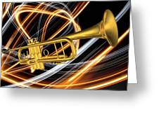 Jazz Art Trumpet Greeting Card