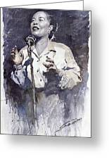 Jazz Billie Holiday Lady Sings The Blues Greeting Card