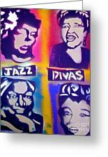 Jazz Divas  Greeting Card