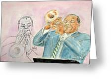 Jazz Dream Team   Greeting Card