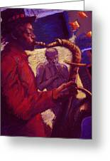 Jazz Duet Greeting Card by Ellen Dreibelbis