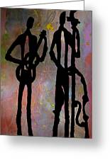 Jazz Duet Greeting Card
