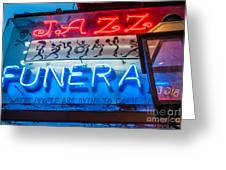 Jazz Funeral And Lamp Nola Greeting Card