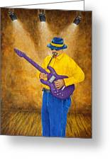 Jazz Guitar Man Greeting Card