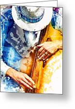 Jazzman At His Craft Greeting Card