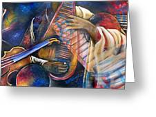 Jazz In Space Greeting Card