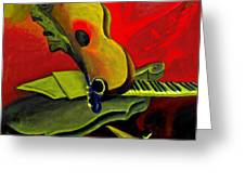 Jazz Infusion Greeting Card