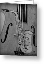 Jazz Is The Color Greeting Card by Laurisa Borlovan