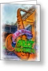 Jazz Kitchen Signage Downtown Disneyland Photo Art 01 Greeting Card