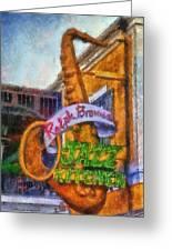 Jazz Kitchen Signage Downtown Disneyland Photo Art 02 Greeting Card