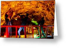 Jazz On The Caverns Greeting Card