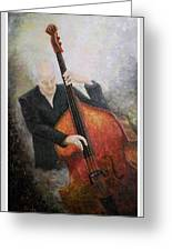 Jazz Player Greeting Card