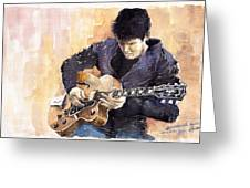 Jazz Rock John Mayer 02 Greeting Card