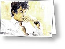 Jazz Rock John Mayer 04  Greeting Card