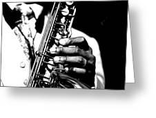 Jazz Saxophonist Greeting Card