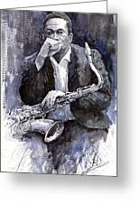 Jazz Saxophonist John Coltrane Black Greeting Card