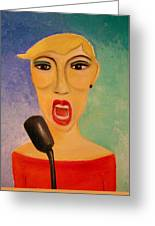 Jazz Singer Greeting Card