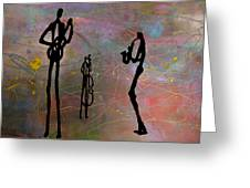 Jazz Trio 3 Greeting Card