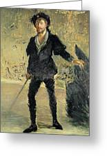 Jean Baptiste Faure In The Opera Hamlet By Ambroise Thomas Greeting Card