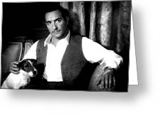 Jean Dujardin In The Film The Artist Greeting Card
