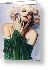Jean Harlow  @ Ariesartist.com Greeting Card