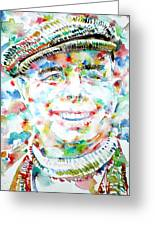 Jean Renoir Watercolor Portrait Greeting Card