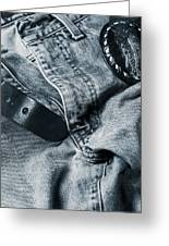 Jeans And Denim In Blue Greeting Card