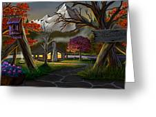 Jeans Cabin Welcome Greeting Card by Brien Miller